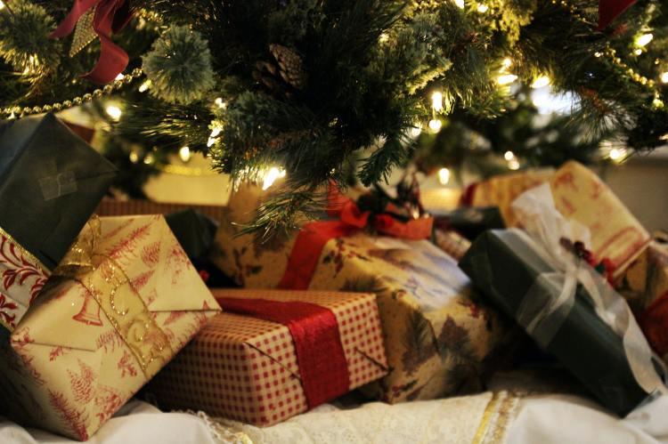 Presents underneath Christmas tree