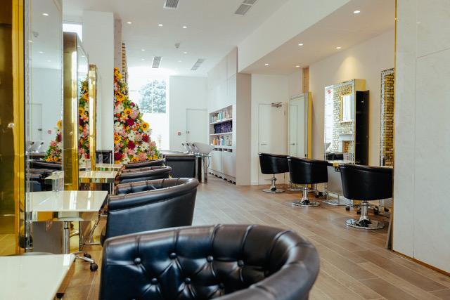 Inside a hair salon